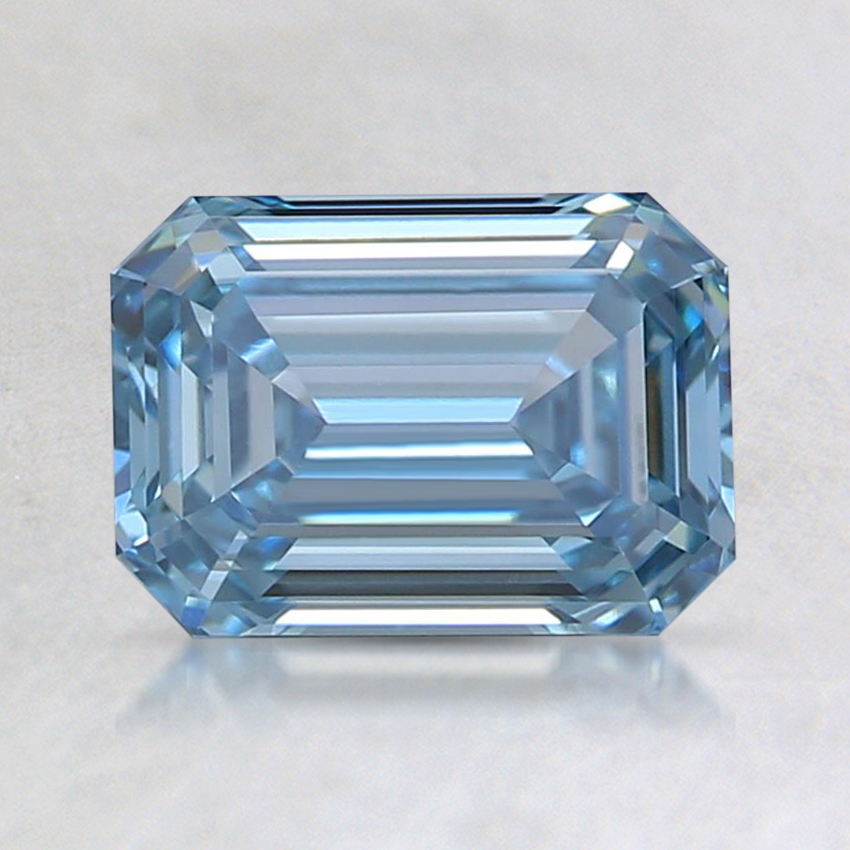 1.10 Ct. Fancy Blue Emerald Lab Created Diamond