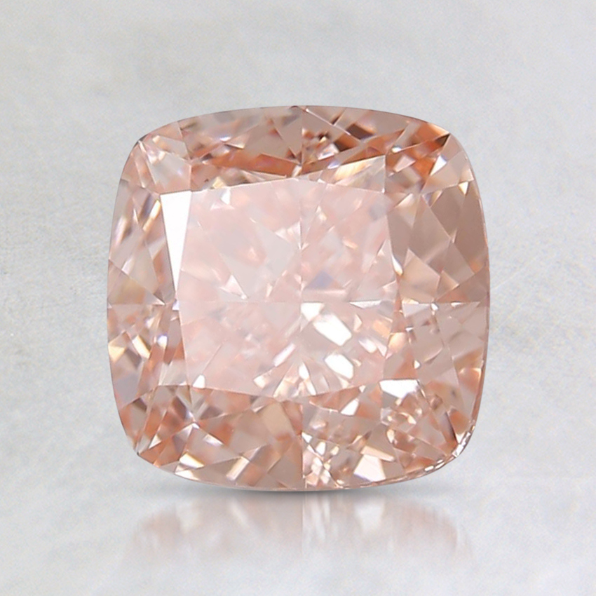 1.64 Ct. Fancy Intense Orangy Pink Cushion Lab Created Diamond