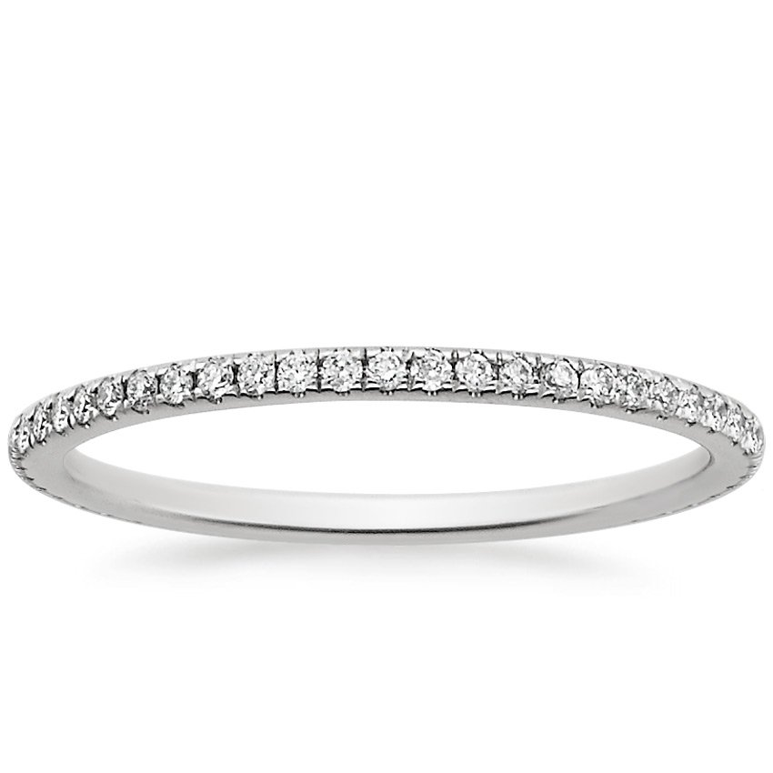 Platinum Eternity Whisper Diamond Ring, top view
