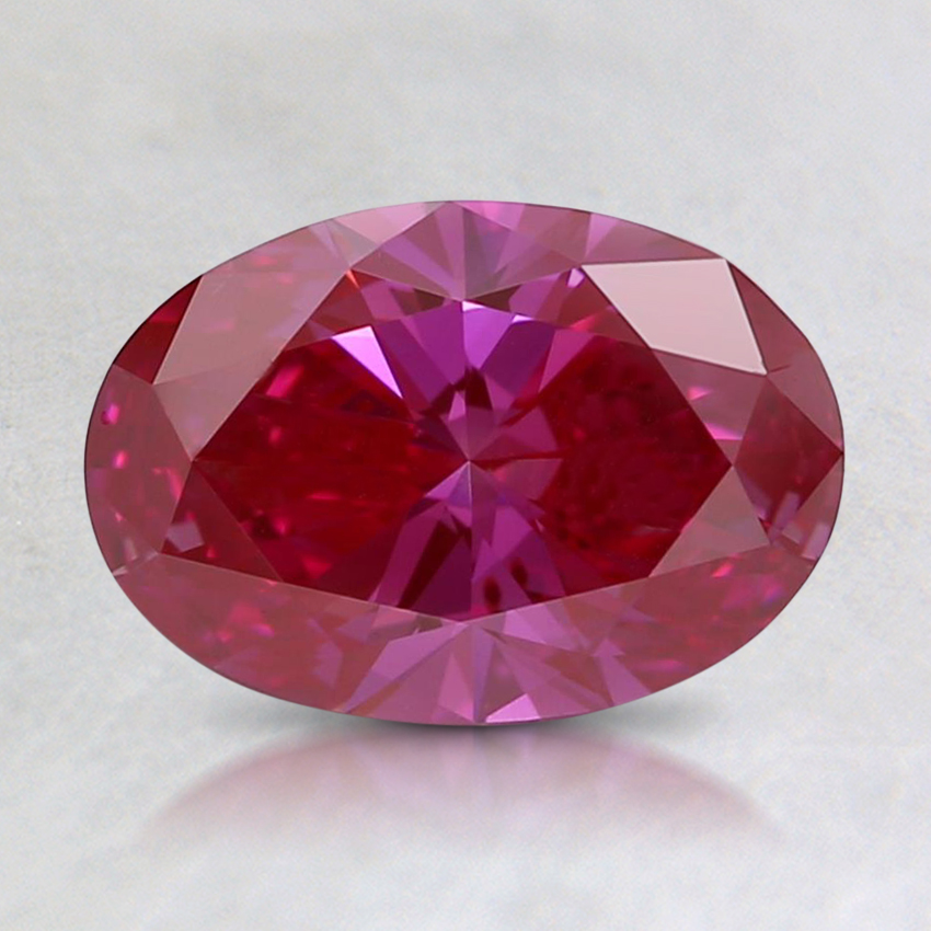 1.00 Ct. Fancy Vivid Purplish Pink Oval Lab Created Diamond