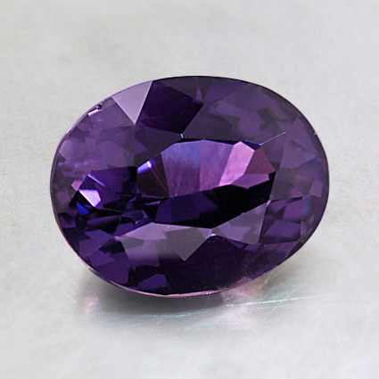 8x6mm Premium Color Change Oval Sapphire, top view