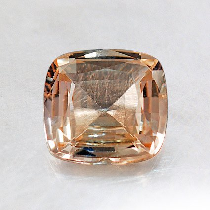 6.3mm Unheated Peach Cushion Sapphire, top view
