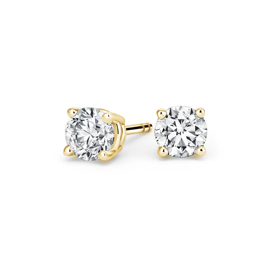 Round Diamond Stud Earrings (1 1/2 ct. tw.) in 18K Yellow Gold