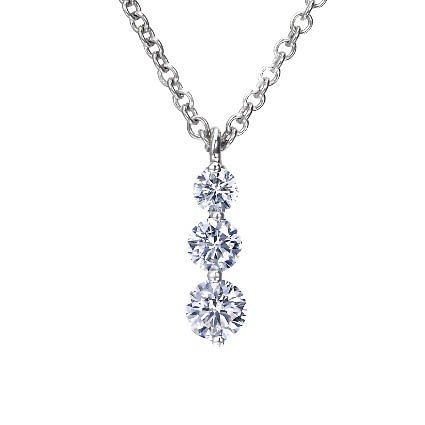 Platinum Three Diamond Drop Pendant (1/2 ct. tw.), top view