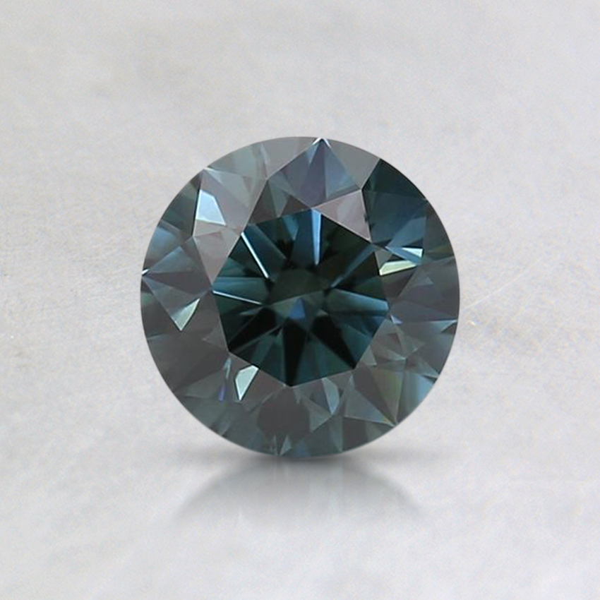 0.60 Ct. Fancy Deep Bluish Green Round Lab Created Diamond