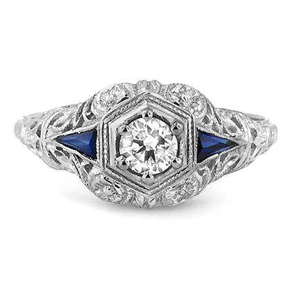 The Skyla Ring, top view