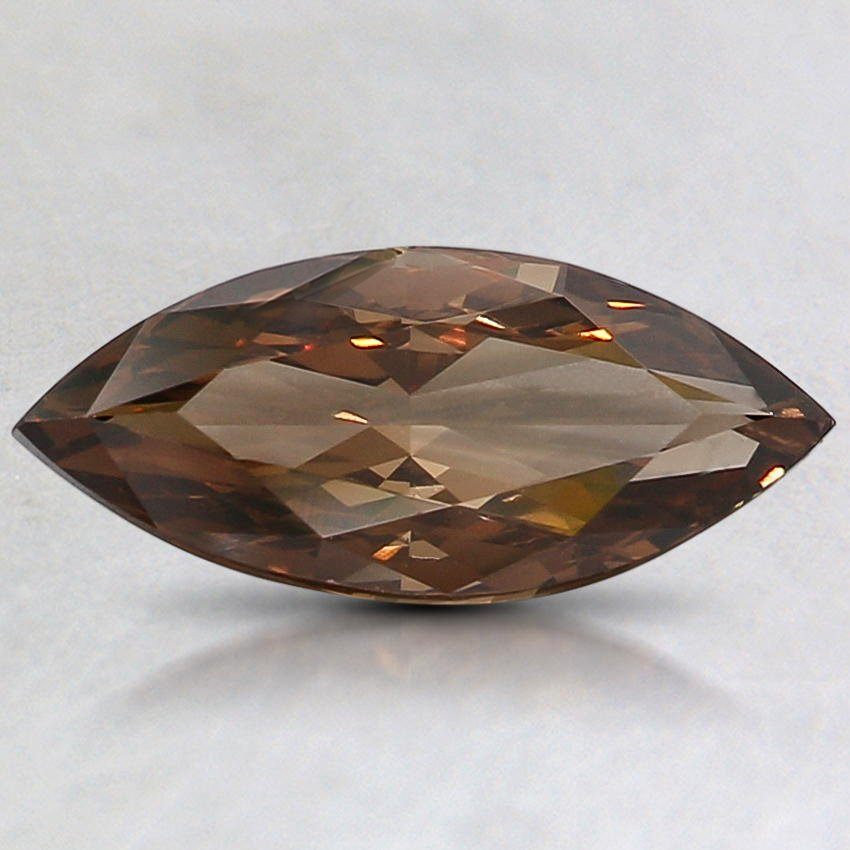 1.03 Ct. Natural Fancy Dark Orangy Brown Marquise Diamond