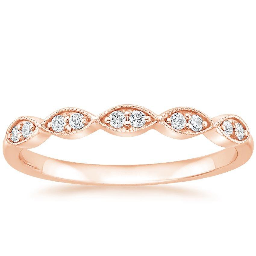 cadenza diamond ring 110 ct tw in 14k rose gold
