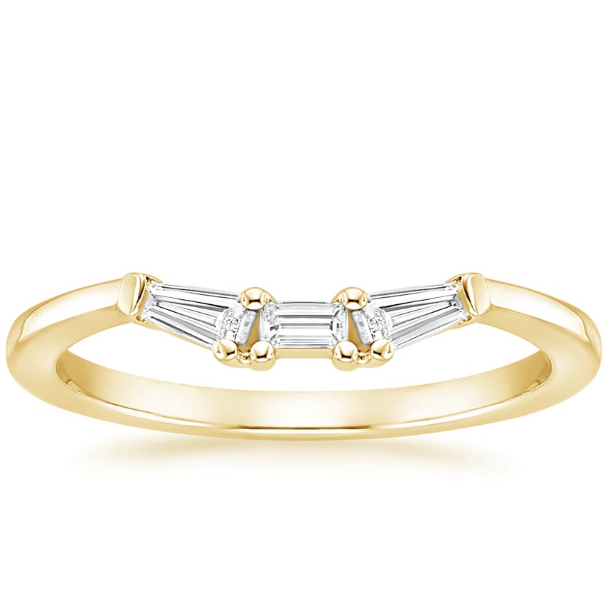 Yellow Gold Tapered Baguette Diamond Ring