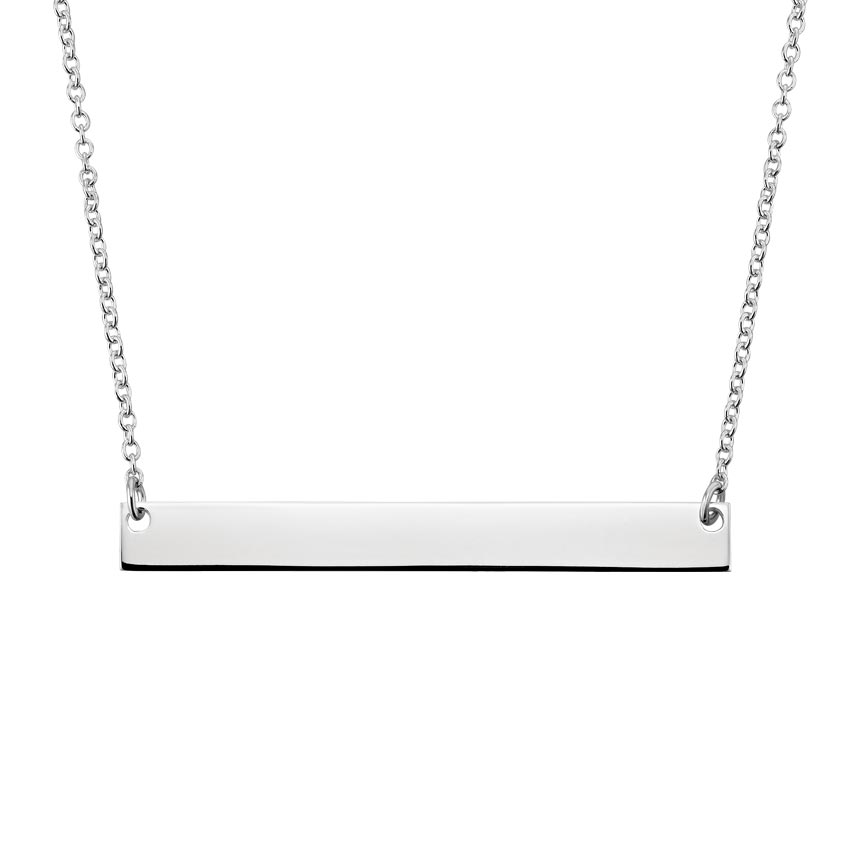 Engravable Horizontal Bar Pendant