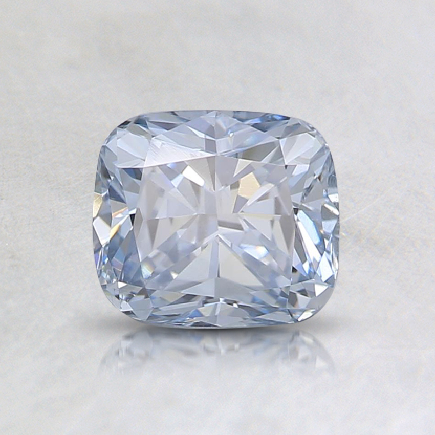 0.86 Ct. Blue Cushion Lab Created Diamond