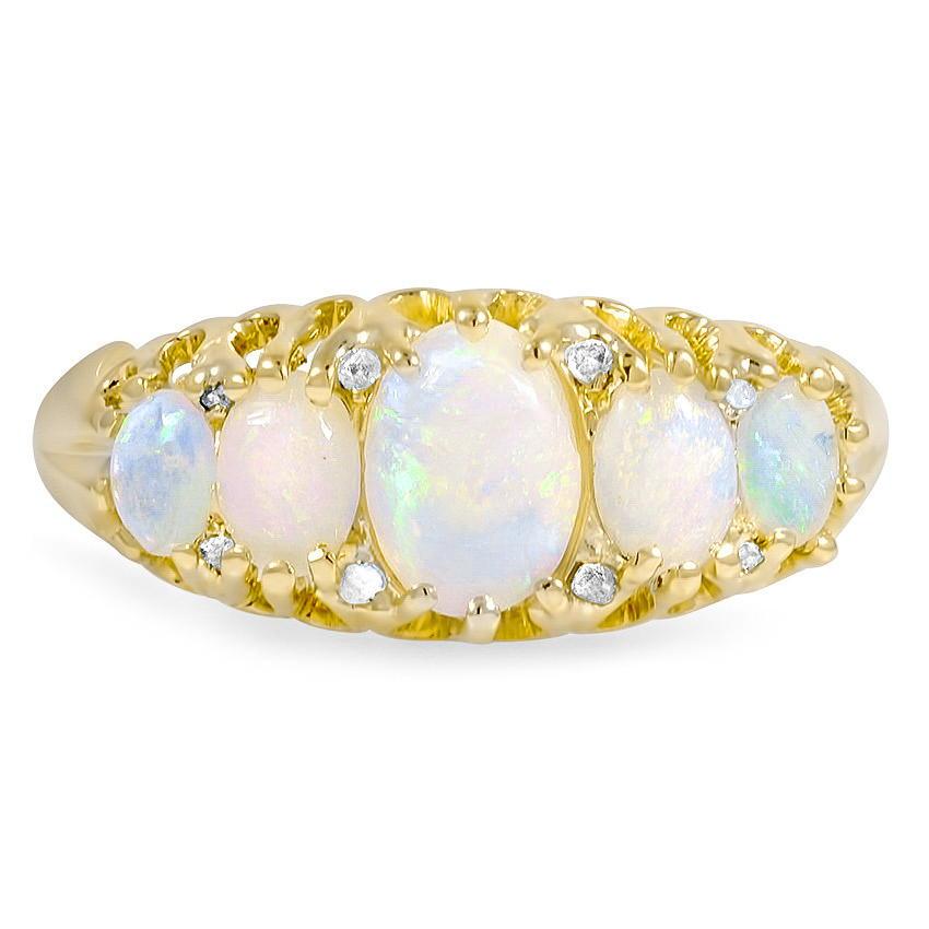 edwardian opal vintage ring glasgow brilliant earth
