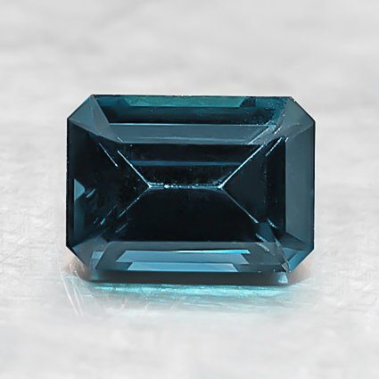 7X5mm Premium Teal Emerald Sapphire, top view