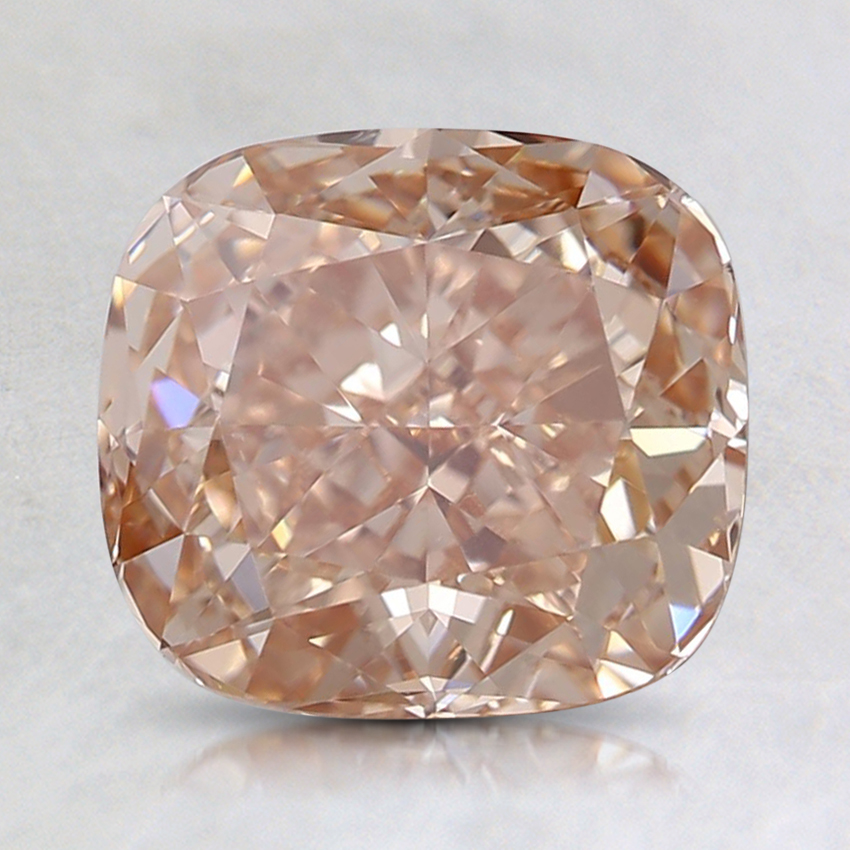 2.00 Ct. Fancy Orangy Pink Cushion Lab Created Diamond