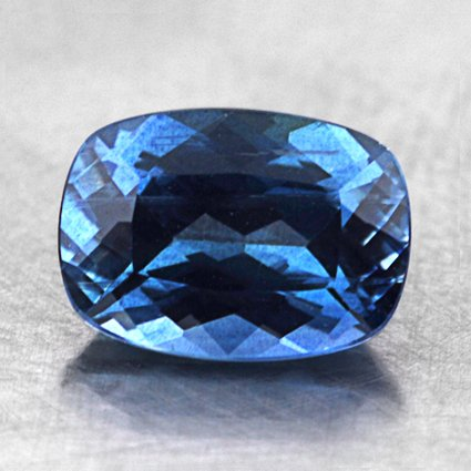 7x5mm Blue Cushion Sapphire, top view
