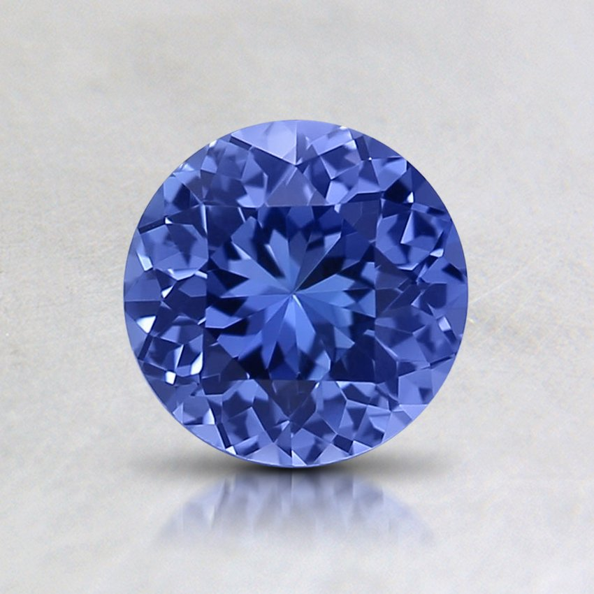 6mm Unheated Blue Round Sapphire, top view