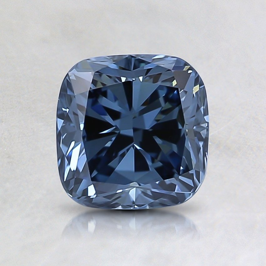 1.02 Ct. Fancy Deep Blue Cushion Lab Created Diamond