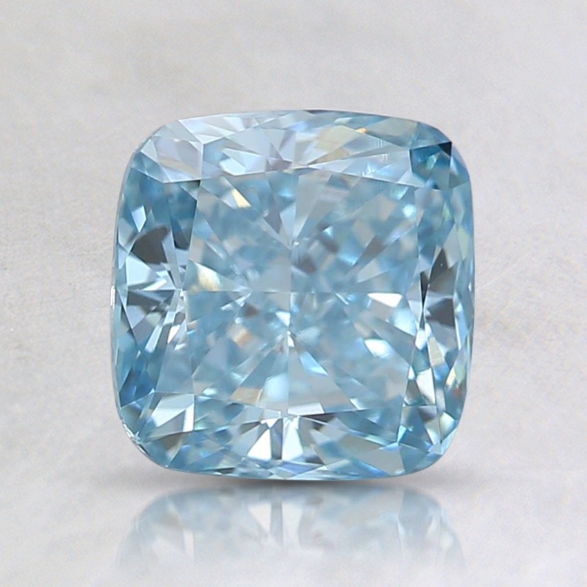 1.28 Ct. Fancy Blue Cushion Lab Created Diamond