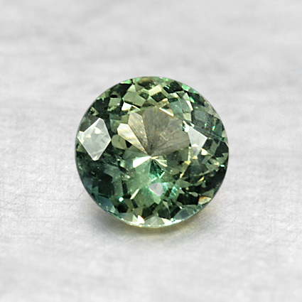 5.4mm Premium Green Round Sapphire, top view