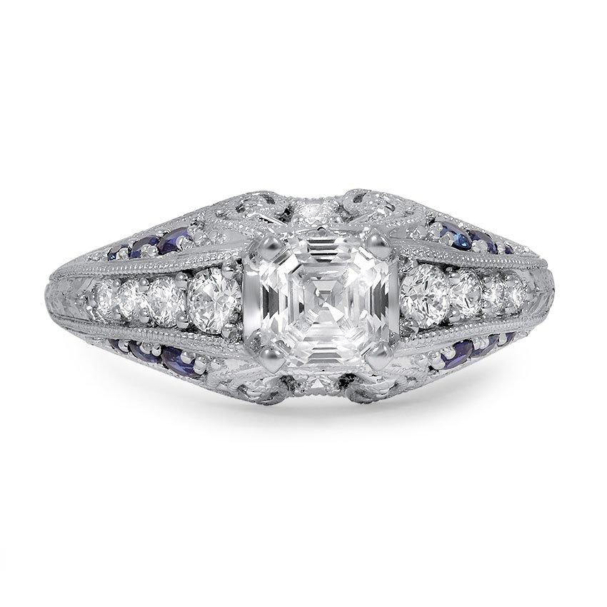 Custom Vintage Asscher Cut Diamond Ring Brilliant Earth