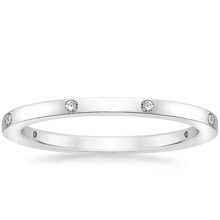Olympia Diamond Ring in 18K White Gold