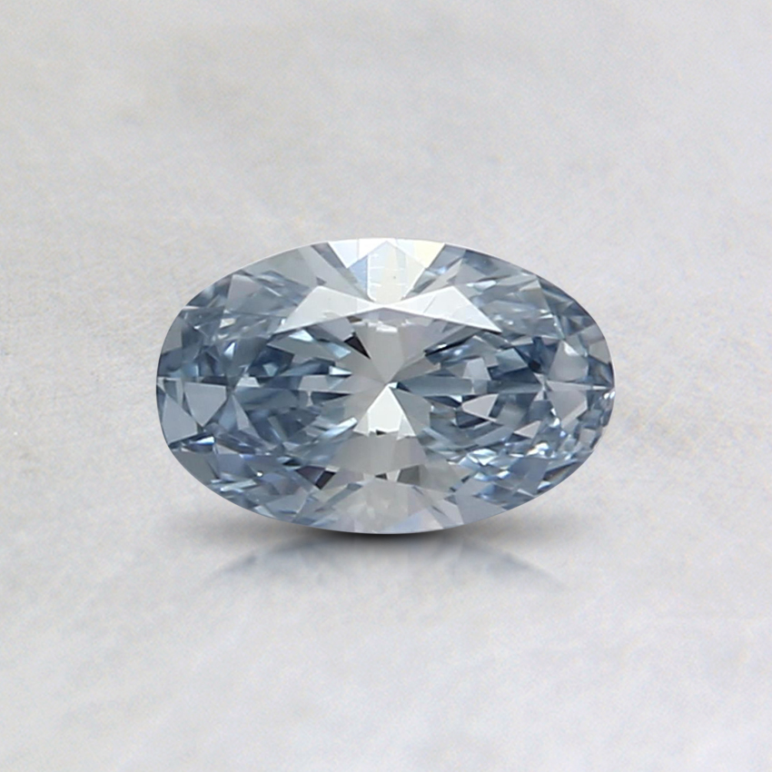 0.37 Ct. Light Blue Oval Lab Created Diamond