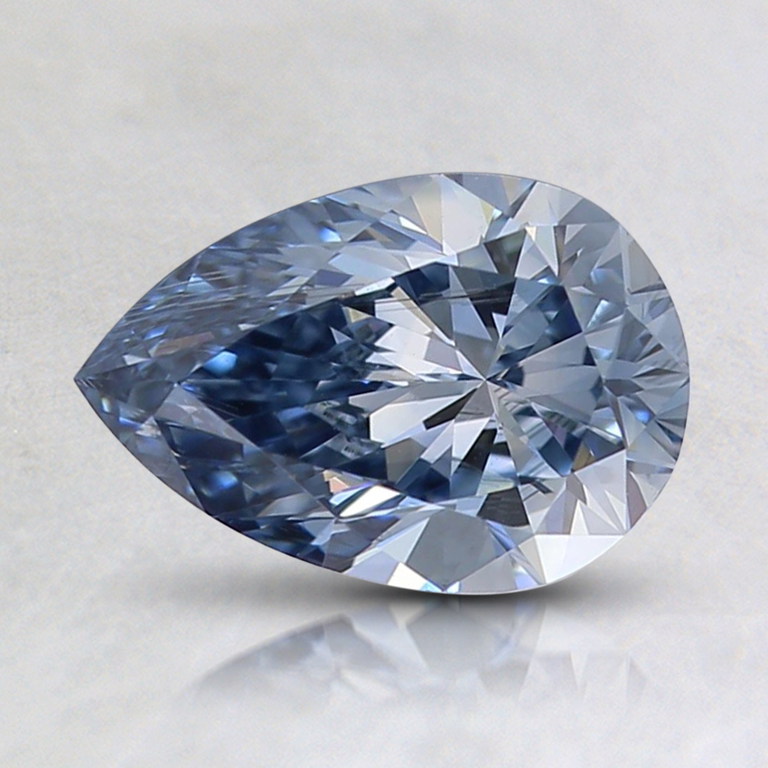 0.94 Ct. Fancy Light Blue Pear Lab Created Diamond