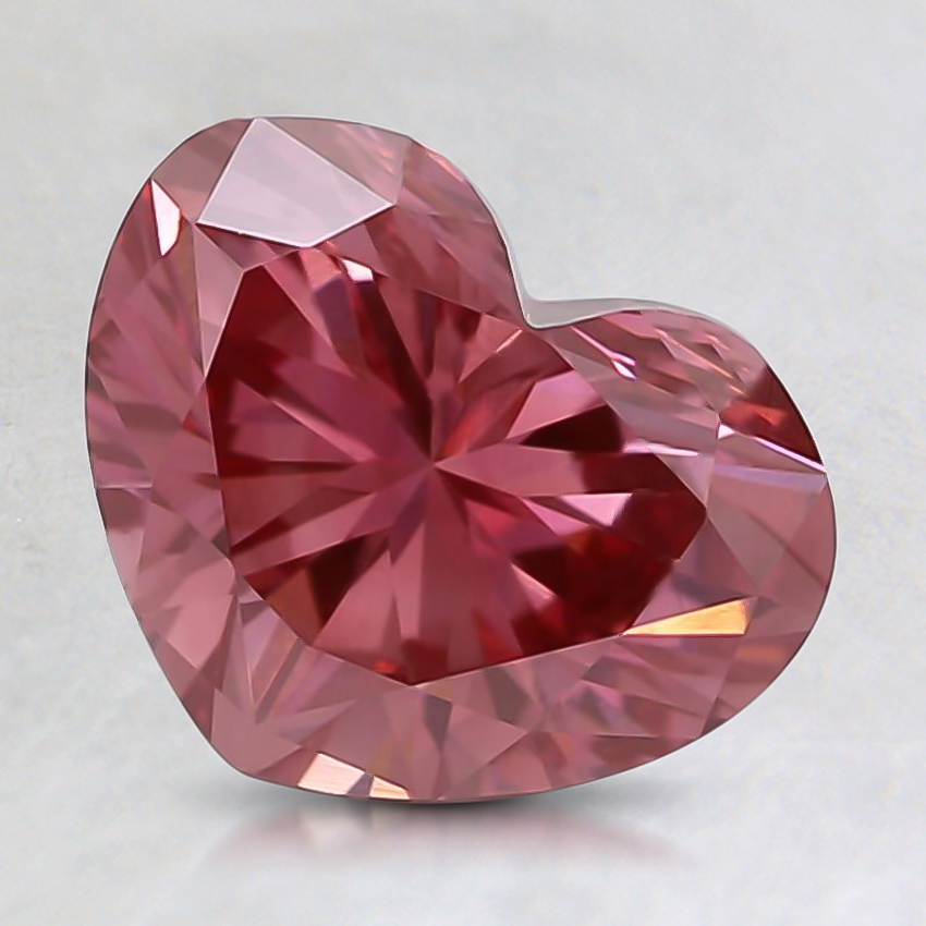 1.15 Ct. Fancy Deep Pink Heart Lab Created Diamond