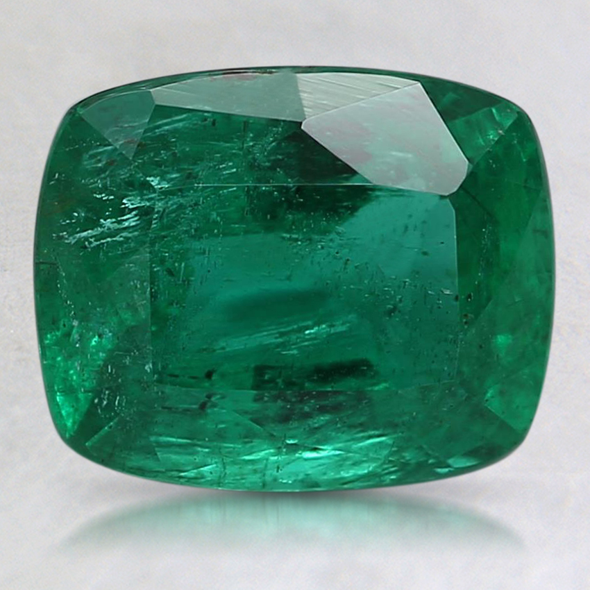 8.7x7.1mm Premium Cushion Emerald