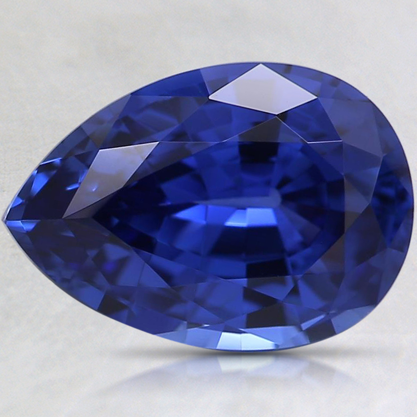 10x7mm Blue Pear Lab Created Sapphire