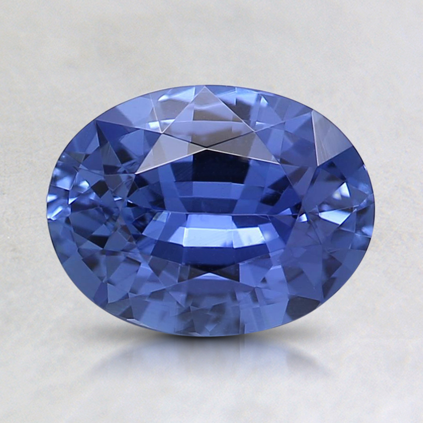 7.9x6.1mm Unheated Blue Oval Sapphire