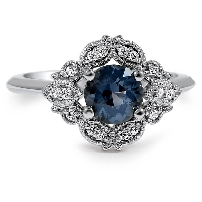 Top Twenty Custom Rings - EMBELLISHED SAPPHIRE HALO RING