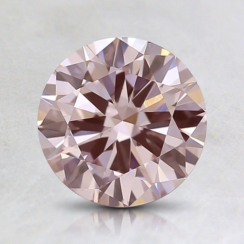 0.93 Ct. Fancy Light Pink Round Lab Created Diamond
