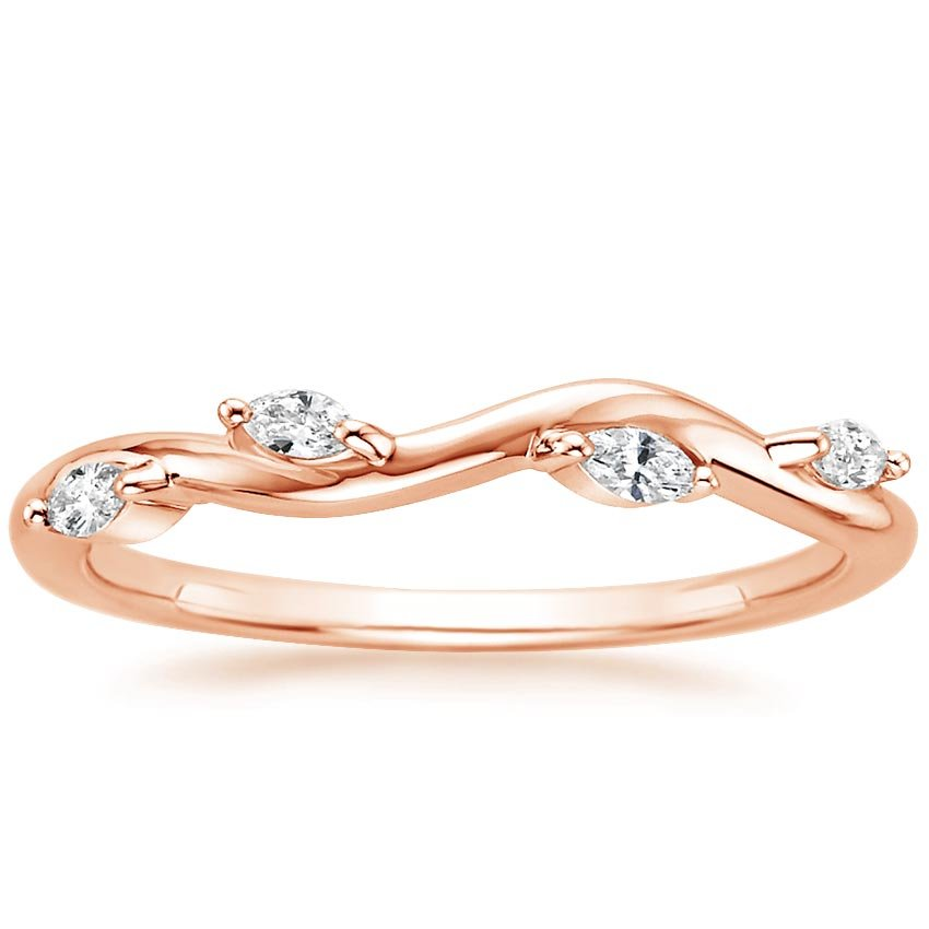 Rose Gold Winding Willow Diamond Ring (1/8 ct. tw.)