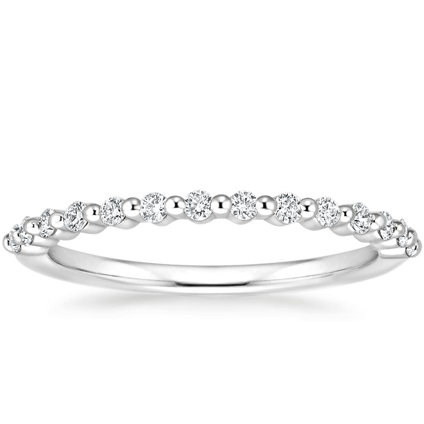 Petite Floating Shared Prong Diamond Ring