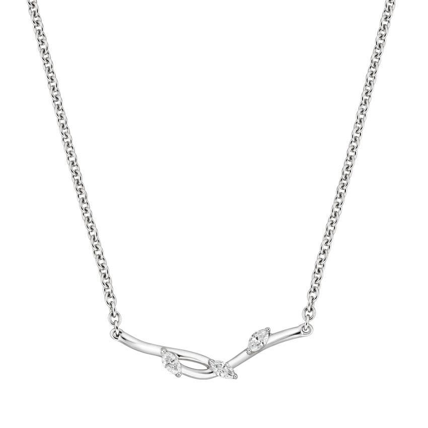 Top Twenty Holiday Gifts - SILVER WILLOW DIAMOND PENDANT