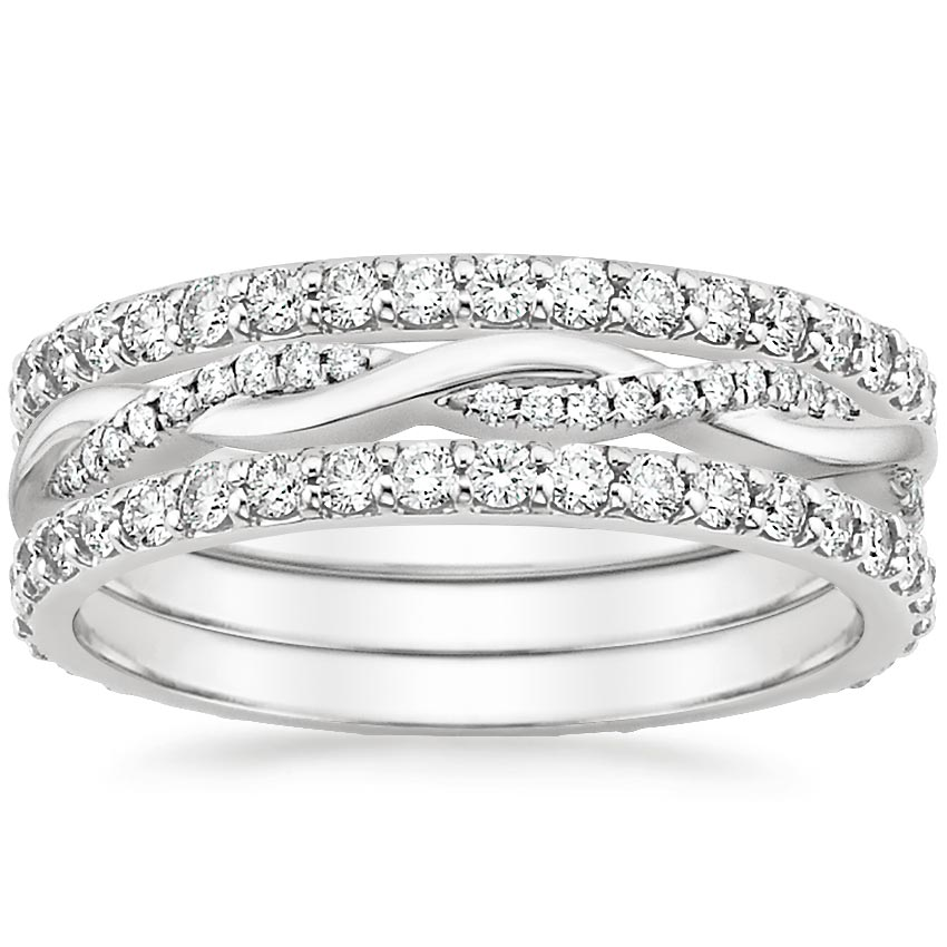 trilogy twist twisted image three white engagement gold band s rings set ring diamond berrys berry stone
