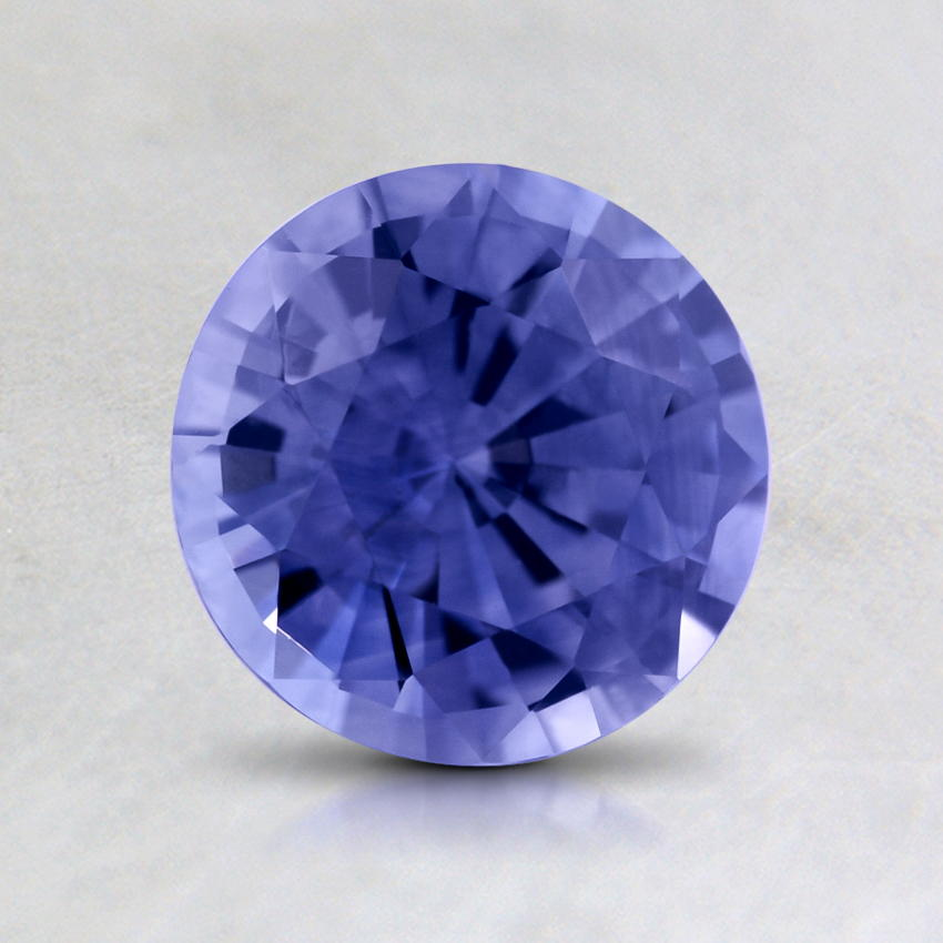 6.5mm Violet Round Sapphire, top view