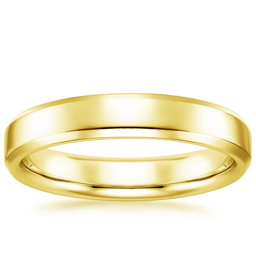 Yellow Gold 4mm Tiburon Wedding Ring