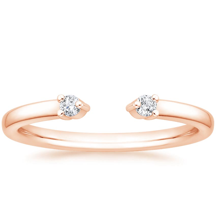 Rose Gold Wren Diamond Ring