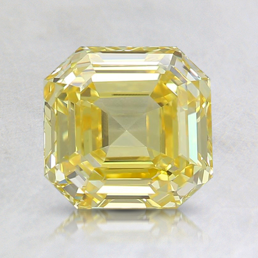 1.50 Ct. Fancy Vivid Yellow Asscher Lab Created Diamond