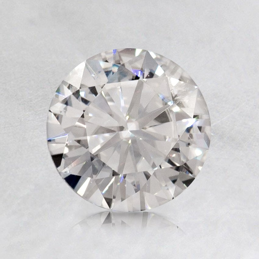 6.5mm Premium Round Moissanite, top view