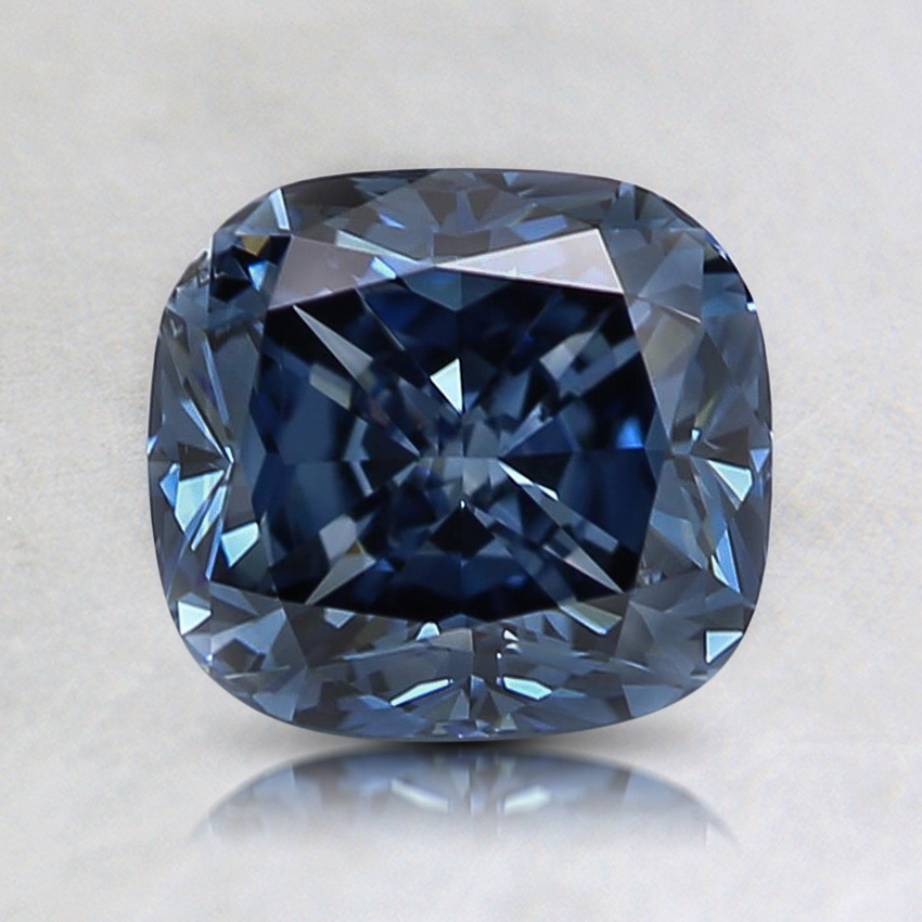 1.53 Ct. Fancy Vivid Blue Cushion Lab Created Diamond