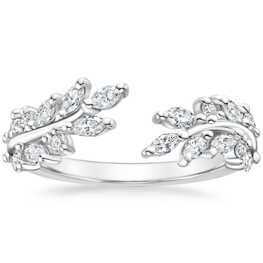 Sweeping Ivy Diamond Ring (1/2 ct. tw.) in 18K White Gold