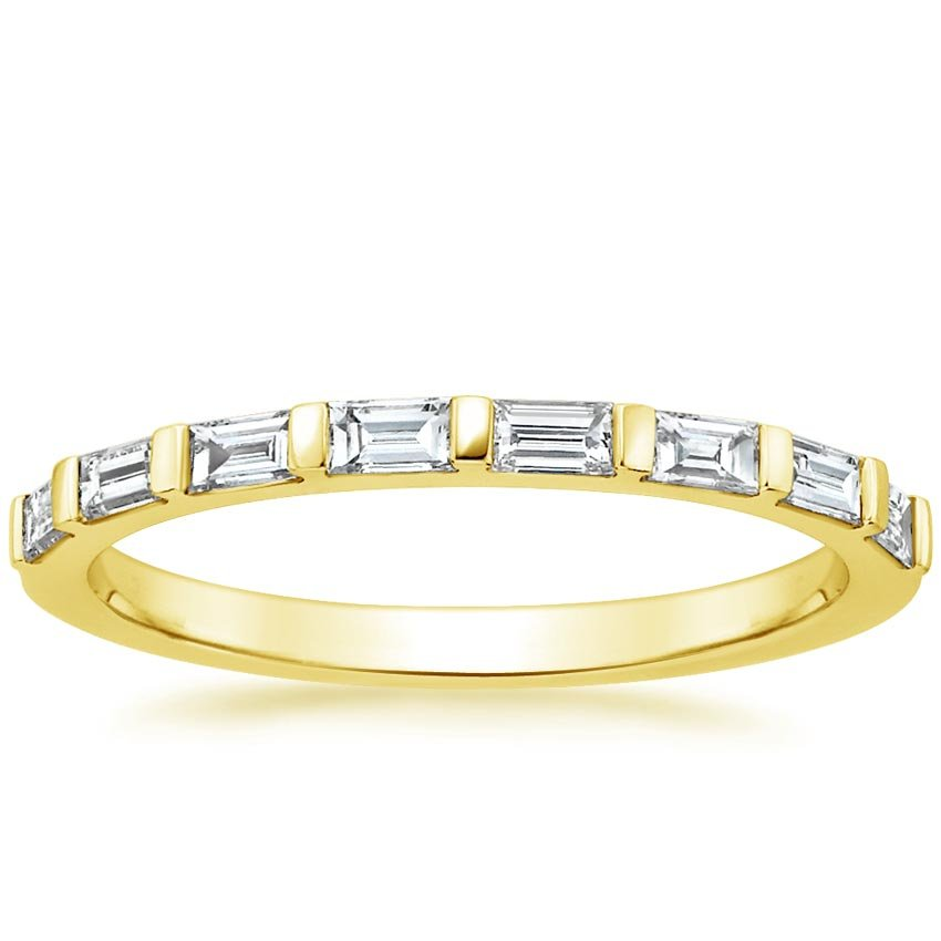 Yellow Gold Barre Diamond Ring (1/4 ct. tw.)