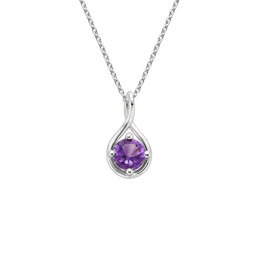 Silver Amethyst Necklace