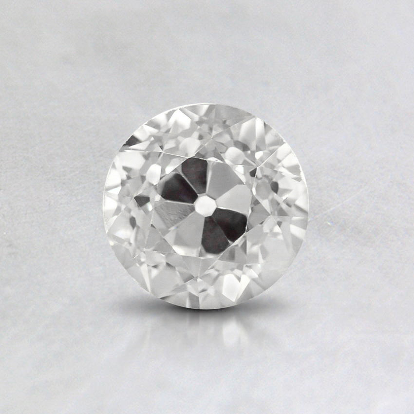 0.50 Carat, F Color, VS2 Clarity, Round Old European Cut Diamond, top view