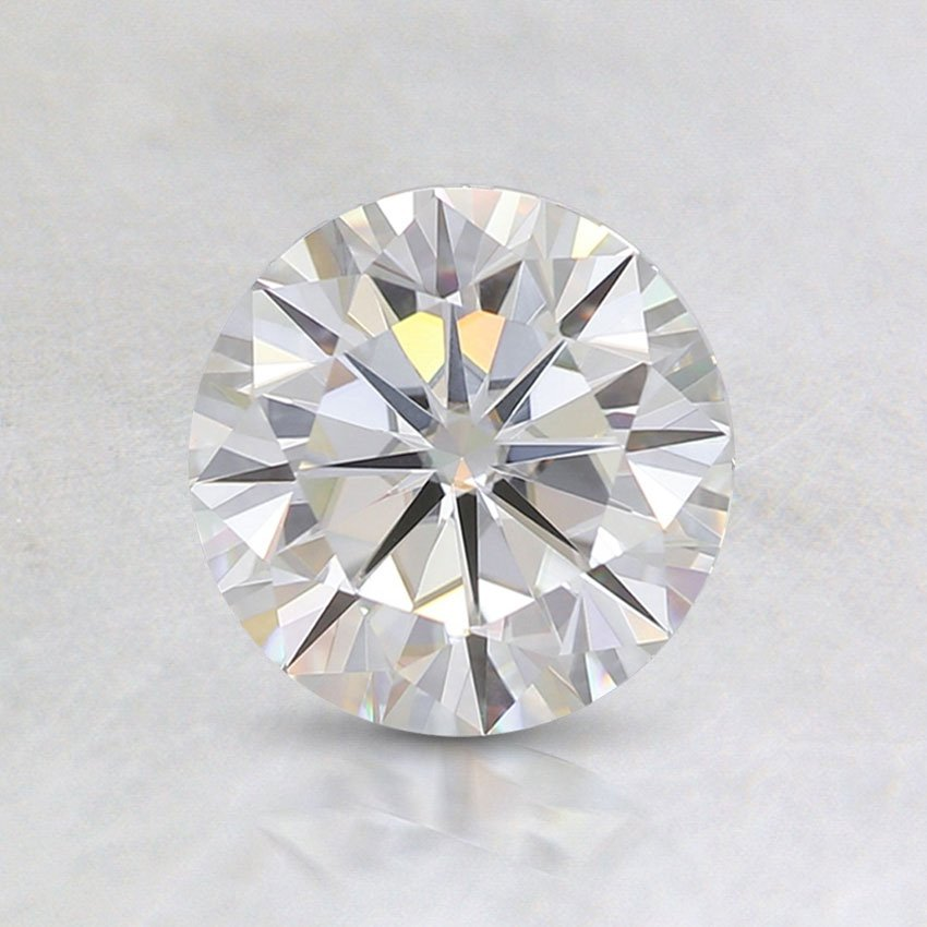 6mm Premium Round Moissanite, top view