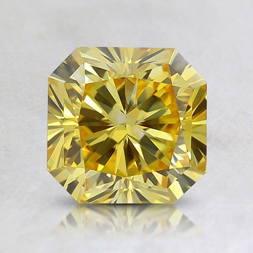 1.45 Ct. Fancy Vivid Orangy Yellow Radiant Lab Created Diamond