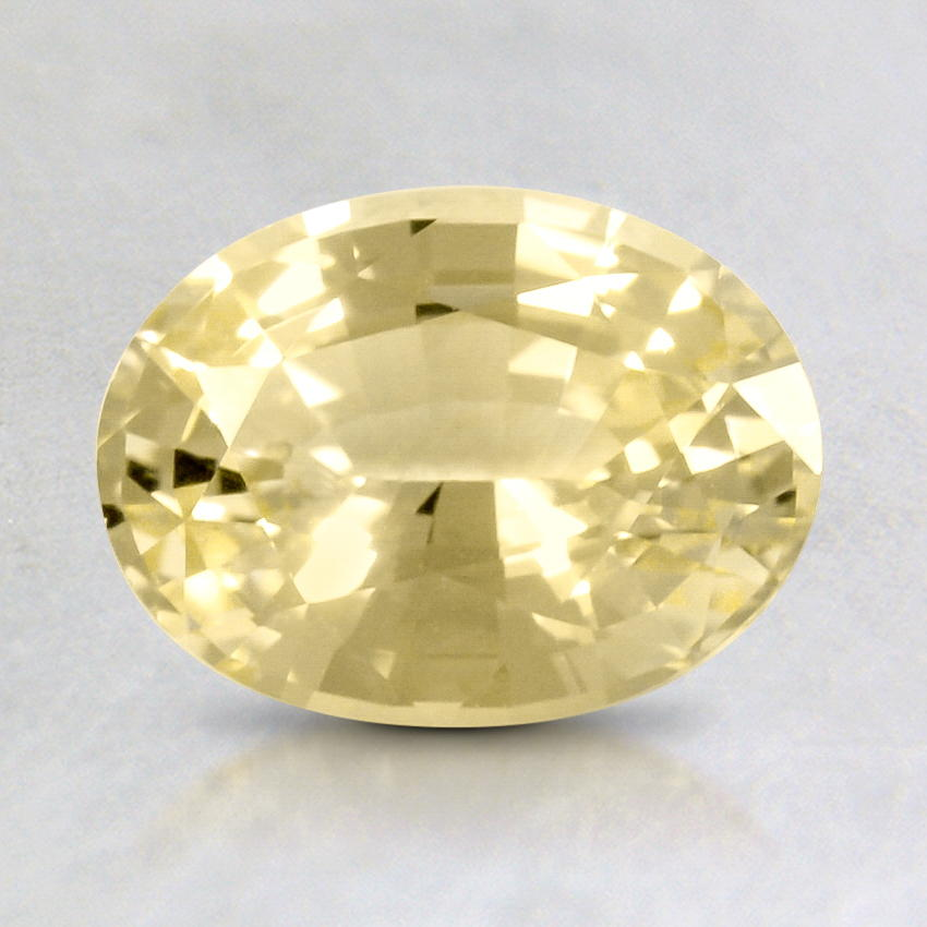 8x6mm Yellow Oval Sapphire, top view